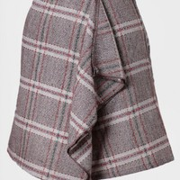 Hyde Park Asymmetrical Plaid Skirt