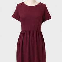 Time Lapse Speckled Dress In Burgundy