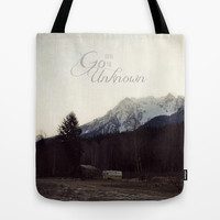 Go Into the Unknown Tote Bag by RDelean