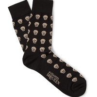 PRODUCT - Alexander McQueen - Skull-Patterned Cotton-Blend Socks - 397680 | MR PORTER