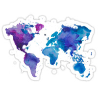Watercolor Map of the World (t-shirt) T-Shirts & Hoodies