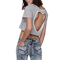 Rehab Heart Back Cutout Cropped Top at PacSun.com