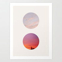 Circles of the AM & PM Art Print by Georgiana Paraschiv