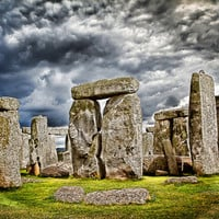 Stonehenge on an English stormy summer's day, photographic art, for home and office décor.Title is: 106