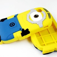 3d Despicable Me 2 Soft Silicone Case Defender Cover for Apple Iphone 4 4g 4s 5 5s with Retail Package (One Eye for iphone 4 4s)