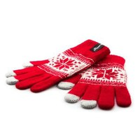 Proporta Mens Ladies Winter All Fingers Magic Touch Screen Warm Gloves for Samsung galaxy S4 S3 S2 , galaxy tab and other Touch Sensitive Capacitive Screens - Unisex One Size - Red