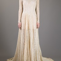 MERCHANT ARCHIVE VINTAGE 1930's lace gown