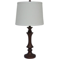 "Walmart: Fangio Lighting 28"" Resin Table Lamp, Antique Gold"