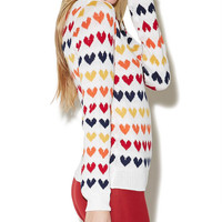 Heart Intarsia Pullover Sweater | Wet Seal