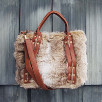 The Yukon Faux Fur Tote - Faux Fur