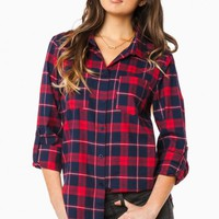 DRAYTON PLAID BLOUSE