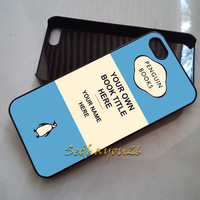 Personalized Penguin Books Cover Blue iPhone 5C Case, iPhone 5S/5 Case, iPhone 4S/4 Case, Samsung Galaxy S3/S4, Premium Case Cover
