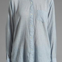 Rails Chase Speckled Button Down in Blue Chambray