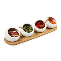 4-Pc. Bamboo and Ceramic Entertainment Set