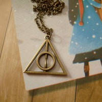 BlueTop(TM) Magical Fantasy Deathly Hallows Necklace Pendant Charm For Harry Potter's Fans