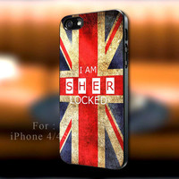 I Am Sherlocked Union Jack, British flag, I Am Sherlocked iPhone case, Ed Sheeran Samsung Galaxy s3/s4 case, iPhone 4/4s case, iPhone 5 case