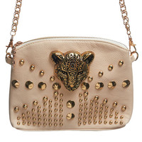 Jaguar Studded Chain Bag | Wet Seal