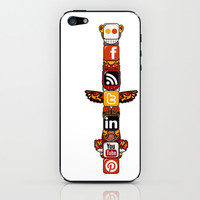 Smoke Signals on shine iPhone & iPod Skin by Miranda J. Friedman