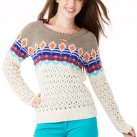 Pointelle Fairaisle Sweater