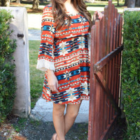 Fly Away With Me Dress: Multi