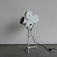 Vintage Movie Projector Side Lamp