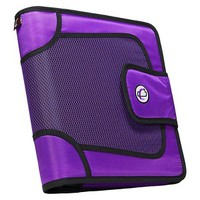 "Case•it Binder with Tabbed Closer - Purple (2"")"