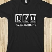Skreened UFO Alien Elements Tee Black
