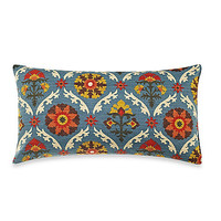Mayan Medallion Blue/Rust Toss Pillow