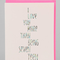 More Than 17 Card - Urban Outfitters