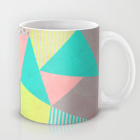 Geometric Pastel Mug by Louise Machado