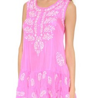 Juliet Dunn Silk Sleeveless Cover Up