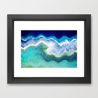 AQUA CRYSTALS Framed Art Print by catspaws