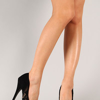 Liliana Paulette-92 Mesh Studded Stiletto Pump