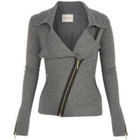 Biker Jacket Grey - Polyvore