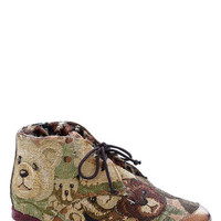 Irregular Choice Teddy Flair Bootie | Mod Retro Vintage Boots | ModCloth.com