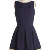 Shoreline Soiree Dress in Navy