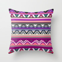 Aztec #8 Throw Pillow by Ornaart