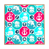 Chobopop Marine Pattern Framed Wall Art
