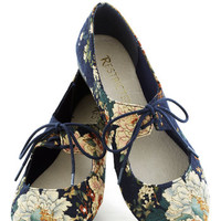 After You Flat in Navy | Mod Retro Vintage Flats | ModCloth.com