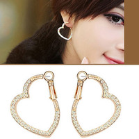 Wrap In Heart Crystal Fashion Earrings