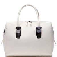 White Lele Carry All Handbag by Opening Ceremony for Preorder on Moda Operandi