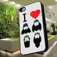 I Love Beards Heart Duck Dynasty Case for iPhone 4,iPhone 4s,iPhone 5,iPhone 5s,iPhone 5c,Samsung Galaxy s2 / s3 / s4