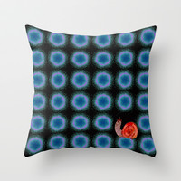 travelling snail Throw Pillow by Marianna Tankelevich