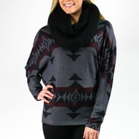 Coal for Christmas Top - Charcoal