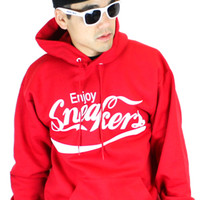 Fully Laced Enjoy Sneakers Hoody (Red)