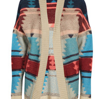 Mia Brushed Soft Knit Aztec Cardigan