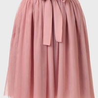 Said Yes Tulle Skirt In Rose