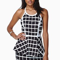 Electro Pop Peplum Dress
