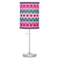 Princess - Pink Aztec Lamp