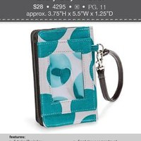 Thirty-One Teal Mod Wristlet - Guaranteed for Chistmas